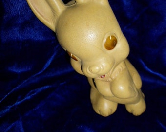 40s 50s Rempel Rubber Bunny Rabbit Squeak Toy Animal