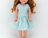 """14.5"""" Doll Clothes - AG Wellie Doll Dress - Wishers Doll Clothes - 14 inch Hearts for Dress - H4H Dress  - HFH Girl Dress"""