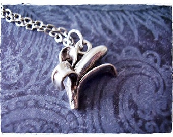 Silver Half Peeled Banana Necklace - Silver Pewter Banana Charm on a Delicate Silver Plated Cable Chain or Charm Only