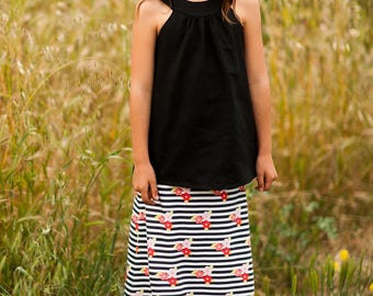 INSTANT DOWNLOAD- Super Simple Maxi Skirt (Sizes 4 to 12) PDF Sewing Pattern and Tutorial