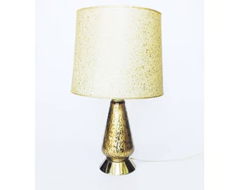 Mid Century Gold Table Lamp
