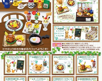Re-ment Pikachu Komorebi Cafe,Re-ment Pikachu Cafe,Re-ment Pokemon Cafe,Re-ment Pokemon,Re-ment Pikachu,Re-ment cafe, with DISPLAY