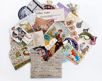 Paper Ephemera Pack in Handmade Envelope, 30 Medium Pieces