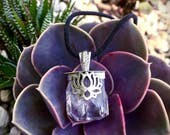 Blossoming Lotus- Danburite Pendant