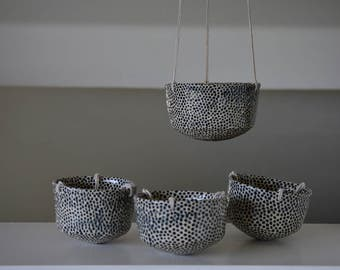 Dotted Hanging Planter