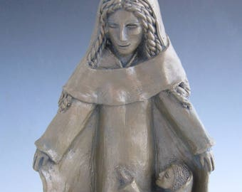 Patron of Mothers: Mary, Handmade Statue (Large Size)