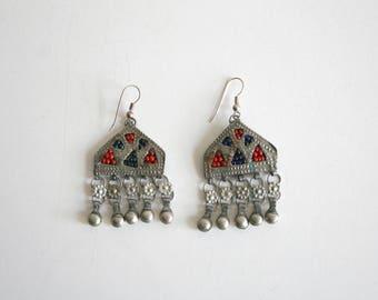 RESERVED for Eutimio Boho Dangle Silver Earrings