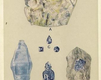 SAPPHIRE Precious Stone Unused Vintage Postcard British Museum (Natural History) – September Birthstone