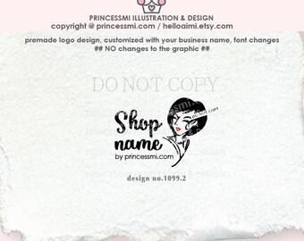1099-2  Woman logo,  Lady logo, lady face ,  Hair silhouette, salon logo design, beauty , blogger logo design, girl, lady business logo