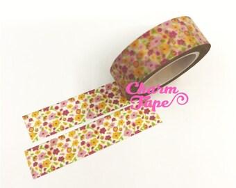 Mini flower Washi Tape 15mm x 10m WT331