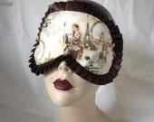 Vintage Paris cotton with chocolate trim Pinup Burlesque by Love Me Sugar