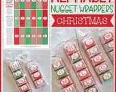 ALPHABET Nugget Wrappers, Christmas Nugget Wrapper, Spell Out NAMES and WORDS, Stocking Stuffer Ideas - Printable Instant Download