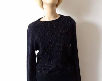 1970s Pendleton Wool Sweater vintage polka dot knit pullover