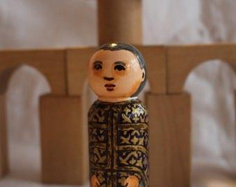 "Priest Peg Doll Byzantine Rite Large 3.5"" size"