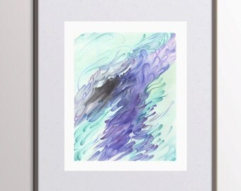 Abstract Painting PRINTABLE Wall Art Modern Print Art - Letter Size A4 Hand Painted Abstract Watercolor Artwork - Expressionist Art