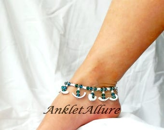 Tribal Dangle Anklet Beach Ankle Bracelet BoHo Jewelry Shell Anklet Body Jewelry Pedicure Accessories