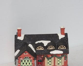 Vintage Original Department 56 Snow Village Stonehurst House Original Box Retired Collectible Village Christmas Holiday Winter Decor 1988