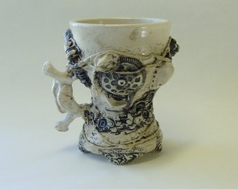 BioIndustrial Baroque Mug with Drain