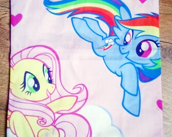 My little pony cushion, character cushion, fluttershy pillow, rainbow dash, kids gift idea, stocking filler, mothers day