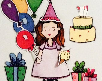 Whimsical Birthday Magnet Sets!!  A perfectly sweet gift for any birthday girl!!!