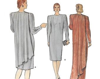 Vogue 8886 Women's 80s Straight Dress Sewing Pattern Size 8, Bust 31 1/2