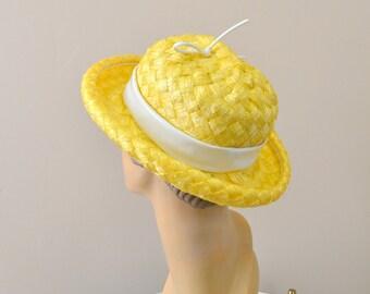 1960s Mr. John Yellow Straw Hat