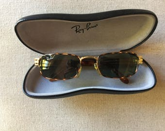 Vintage Ray-Ban Sunglasses with 18 Karat Gold Trim