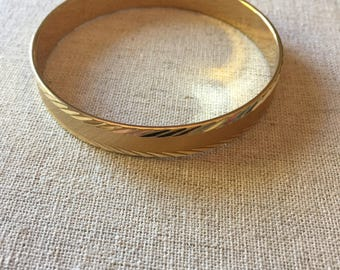 Vintage Monet Gold Toned Bangle - Signed