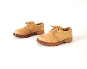 vintage 90s GRUNGE havana JOE tan low top CRUISERS nirvana low top shoes boots booties tan brown size 6 7
