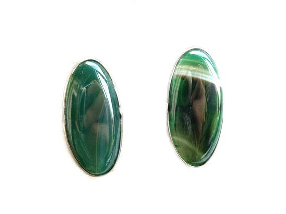 Agate Ring, Long Agate Ring, Long Gemstone Ring, Green Gemstone Ring, Big Gemstone Ring, Green Silver Ring, Green Ring, Boho Gemstone Ring,