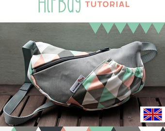sewing pattern fanny pack, HipBag, DIY, tutorial, sewing, belt pouch, belt bag, holter