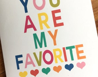 You are my favorite- a set pf 8 inspirational notecards and evelopes