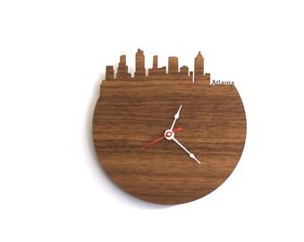 "Atlanta Clock - 7"" Walnut SAMPLE"