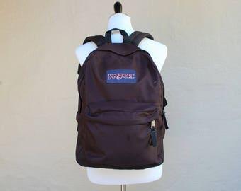 Vintage Black Classic Jansport Backpack Essential Pack Book Bag Student 90s Hipster Preppy School Bag Summer Fashion Boho Ruck Sack Daypack
