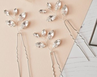 Diamante Pins, Rhinestone Hair Pins, Fan Hair Pins, Diamante Fan Hair Pins, Rhinestone Bridal Pins, Spray Hair Pin, Bridal Pin