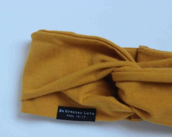 Mustard Turban Headband - Buy One Give One - Baby Headband - Big Bow - Knot Headband