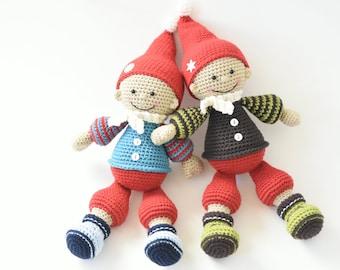 PATTERN - Jester the Christmas gnome - crochet pattern, amigurumi pattern, PDF