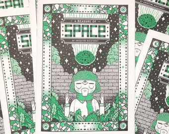 A Measure Of Space - Comic Book Zine, Introvert Cosmic Meteor