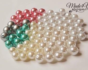 Pearl Bead Lot - 20mm Chunky Pearl Beads