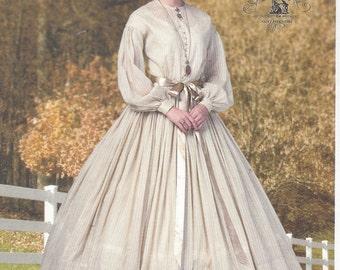 Nancy Farris Thee Womens 1860s Civil War Day Dress & Petticoat Butterick Sewing Pattern B5831 Size 16 18 20 22 24 Bust 38 40 42 44 46 UnCut
