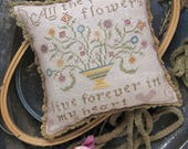 10% OFF Pre-order NEW All the Pretty Flowers by Heartstring Samplery at thecottageneedle.com smalls pin keep