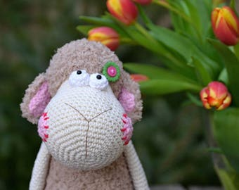 Crochet pattern - Spring sheep by VendulkaM - amigurumi/ crochet toy, digital pattern, DIY, pdf