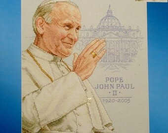 Counted Cross Stitch Kit | POPE JOHN PAUL | Ii 2 | Janlynn | Praying Hands Collection