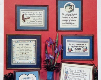 Counted Cross Stitch Booklet INSPIRATIONAL THOUGHTS Samplers (Multiple Designs) By Imaginating