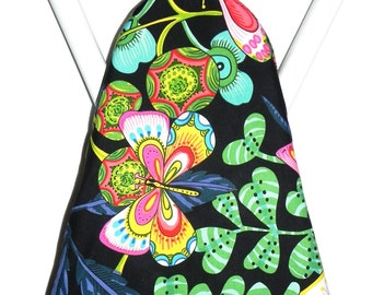 Ironing Board Cover -  Butterflies in pink, aqua, mint green, blue and yellow - Laundry and Housewares