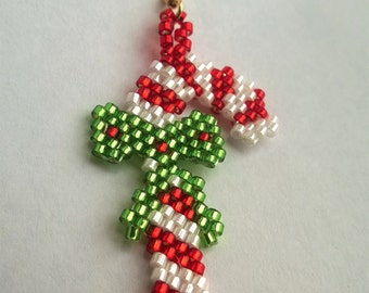 pdf - Beaded Candy Cane Earrings (instructions)