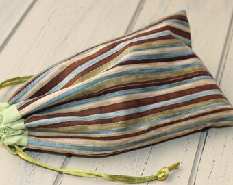 Striped Tarot Bag with Green trim