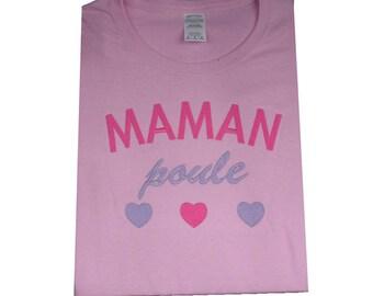 Maman Poule Pink T-shirt