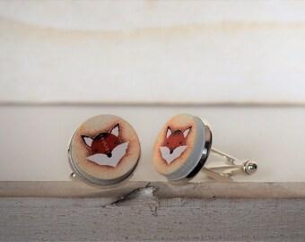 Red Fox Cufflinks Foxes Cuff Links Fox Cufflinks Fox Lover Wildlife Cufflinks