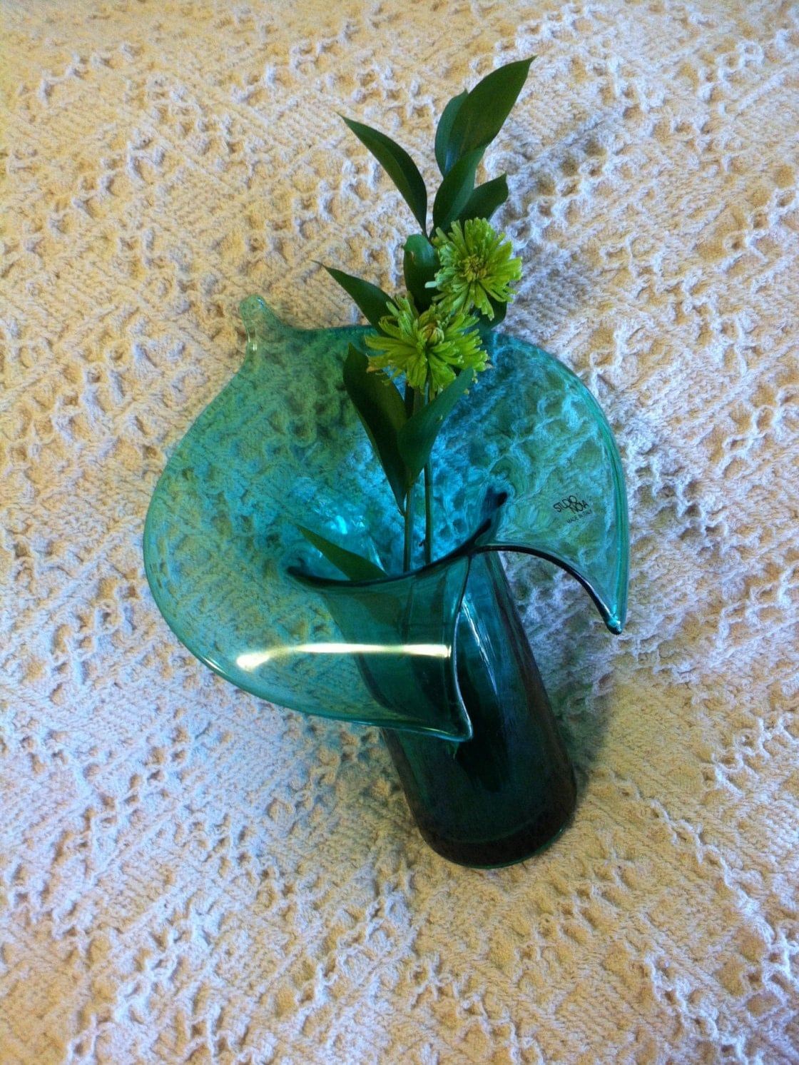 Green jack in pulpit vase studio nova italian art glass hand details gorgeous vintage studio nova reviewsmspy